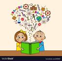 Image result for children reading books/cartoon